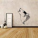 Tianpengyuanshuai Calcomanía de Pared de Lobo, calcomanía de Vinilo de Animal Salvaje, Naturaleza Salvaje, decoración del hogar, Mural artístico, Sala de Estar 40x28cm