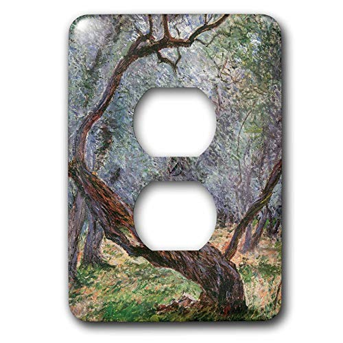 Duplex Receptacle Outlet Wallplate 1 Gang Outlet Covers Bln Claude Monet Collection Study Of Olive Trees Classic Beadboard Wall Plate Decorator Unbreakable Faceplate