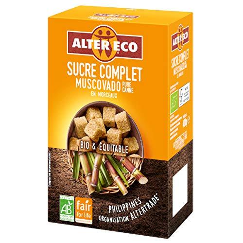 Alter eco - Sucre de canne complet muscovado en morceau Bio - 400G