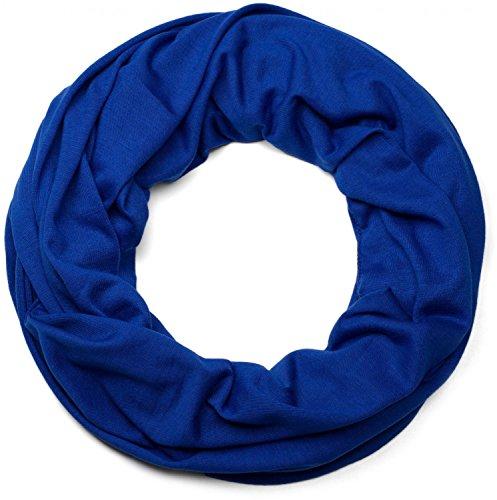 styleBREAKER unifarbener Jersey Loop Schlauchschal, Schal, Tuch, Unisex 01016115, Farbe:Royalblau