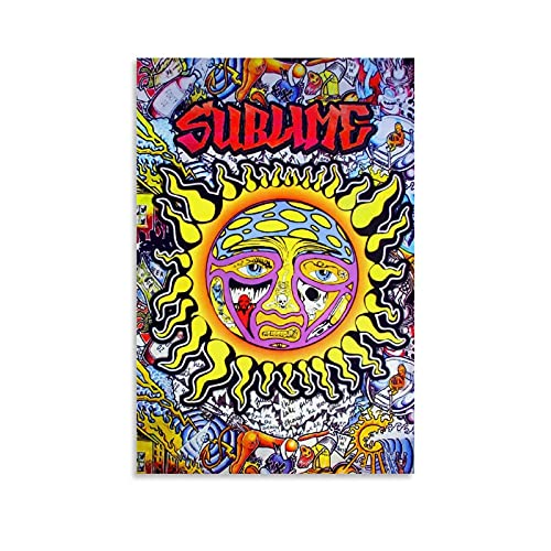 SDFRE Music Posters Personality of The Sun Sublime Canvas Art Poster and Wall Art Picture Print Modern Family Bedroom Decor Posters 12x18inch(30x45cm)