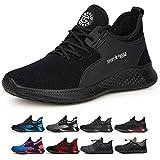 TQGOLD Zapatos de Seguridad para Hombre Mujer S3 Ligeros Comodos Zapatos de Trabajo(Negro,Tamaño 37)