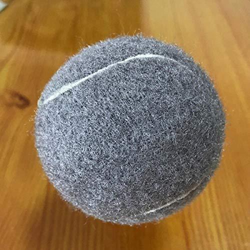 MENGDI Farbiger Tennis-Tennisball aus Gummi mit hoher Elastizität und Haltbarkeit, der für das Training von Schulklubwettbewerben und das Üben von 6er-Packs verwendet Wird-Grau * 6