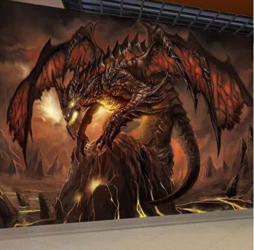 Papel de Parede 3D Dragon Fototapete Große Tapete Einzigartige Innenausstattung Schlafzimmer Flur Kinder, 250 * 175cm