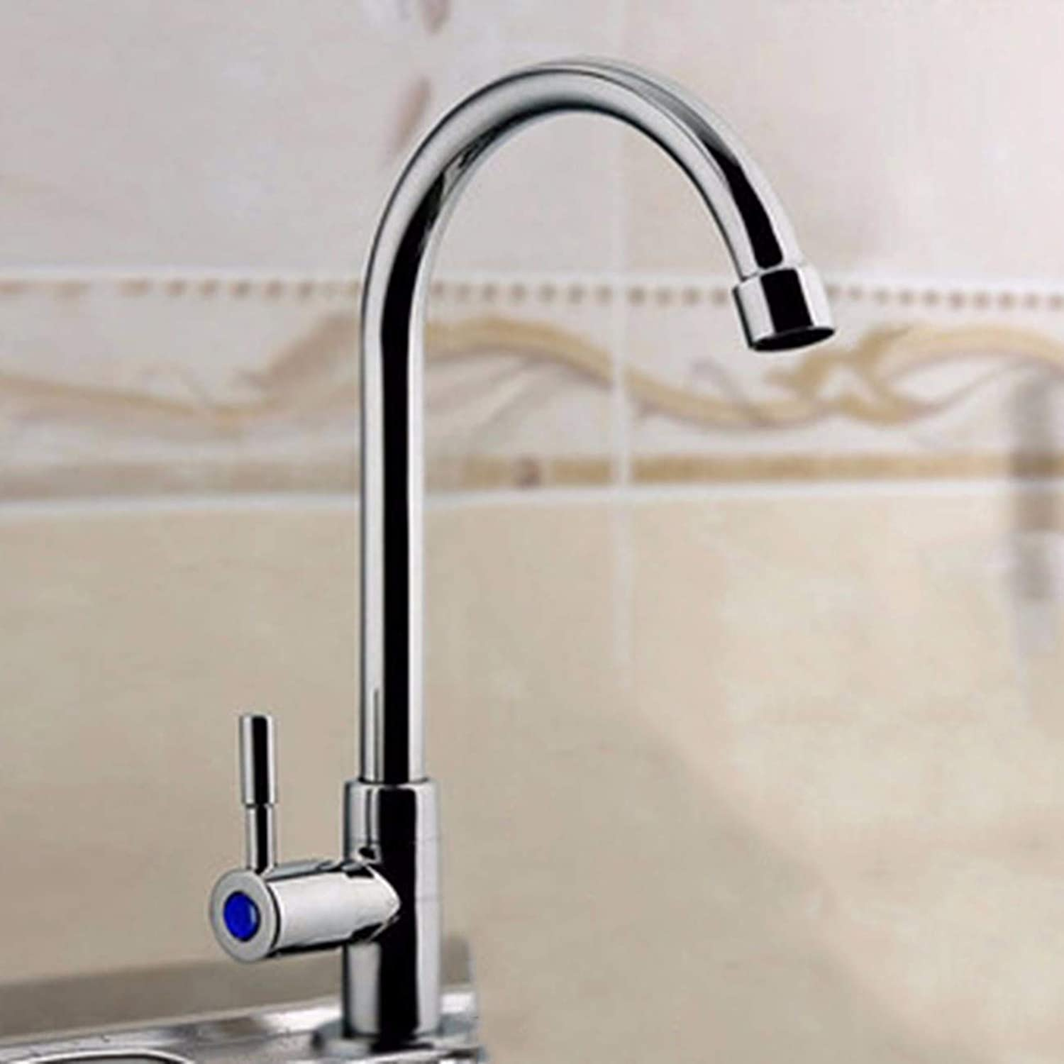 Kitchen tap Kitchen hot and cold faucet all copper sink sink redatable dishwashing laundry sink sink washbasin household,G