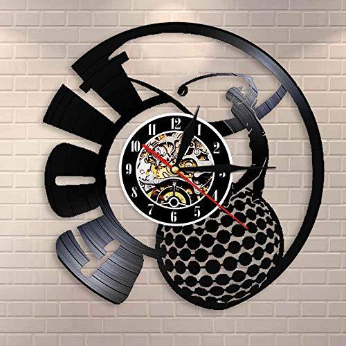Regalos para Hombres Jugador de Golf Femenino Decoración de Pared Deportiva Club de Golf Disco de Vinilo Retro Reloj de Pared Campeones de Torneo
