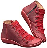 Kinloy 2019 New Women's Casual Arch Support Ankle Boots Ladies Waterproof Flat Slip