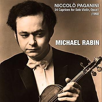 Niccolò Paganini: 24 Caprices for Solo Violin, Opus1 (1958)