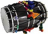 PAL MUSIC HOUSE, Mango Wood Punjabi Bhangra Dhol Black Finish Free Padded Carry Bag