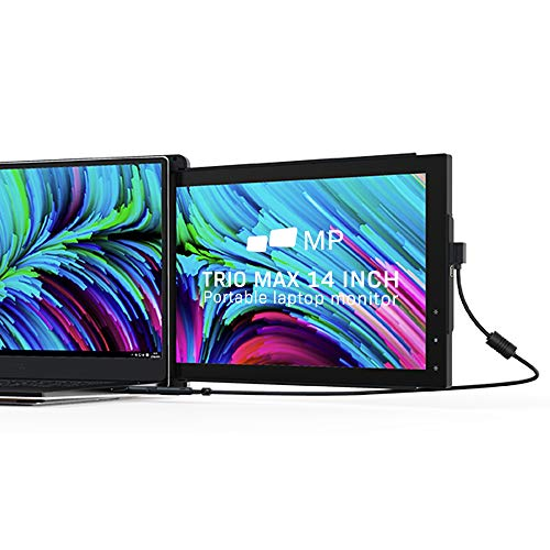 Mobile Pixels Trio Max Portable Monitor, 14'' Full HD IPS Dual Triple Monitor for laptops, USB C/USB A Powered Portable Display,Windows/OS/Android/Switch Compatible (One Monitor Only)