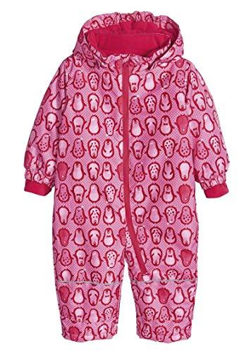 lupilu Kinder Mädchen Schneeoverall Winter Overall Rosa Pinguine - Gr. 74/80