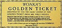 2個 ウィリーウォンカゴールデンチケットゴールドサインウォールアートチャーリーチョコレート工場メタルサイン8x12インチ
