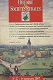 Histoire et sociétés rurales, N° 27, 1er semestre