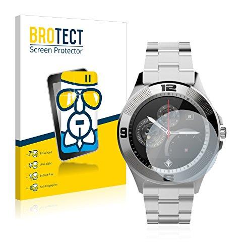 BROTECT Panzerglas Schutzfolie kompatibel mit Tiger Smartwatch London - AirGlass, extrem Kratzfest, Anti-Fingerprint, Ultra-transparent