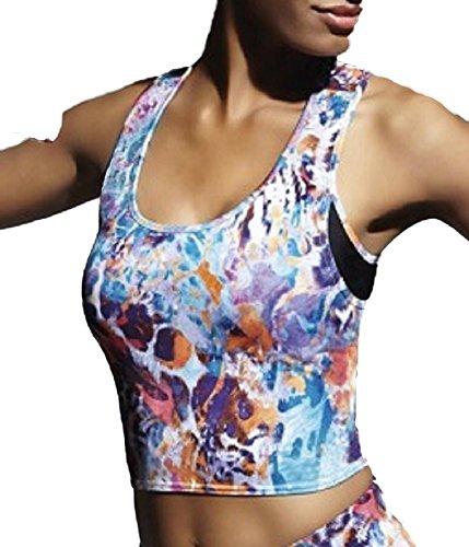 Bas Bleu Caty 30 Top Damen breite Träger kurz Rundhals Sport Fitness Top Qualität Setteil EU, Größe 2/S/36, mehrfarbig