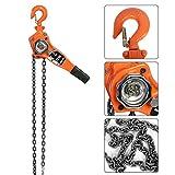Paranco manuale per catena, 3 m altezza di sollevamento, paranco a leva a cricchetto, 3T...