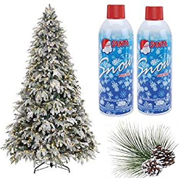 Prextex Christmas Artificial Snow Spray Pack of Two 13 Oz Aerosol Decoration Tree Holiday Winter Fake Crafts Winter Party Snow Santa Snow Nieve  13 OZ