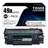 1-Pack Black 49A | Q5949A Toner Cartridge Compatible Replacement for HP Laserjet 1320(Q5927A) 1320n(Q5928A) 1320nw(Q5929A) 1320tn(Q5930A) 3390(Q6500A) MFP 3392(Q6501A) 1160 Printer.