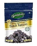 HappiloPremium Afghani Seedless Black Raisins, 250g (Pack of 2)
