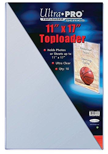 "Ultra Pro 11"" X 17"" Toploader 10ct"