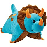 Product Image of the Pillow Pets Triceratops Blue Dinosaur, 18' Stuffed Animal Plush Toy