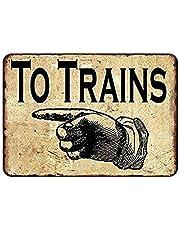 Taken Trains Vinger Teken Vintage Metalen Schilderij Cafe Vintage Tin Muur Teken, Reclame Vintage Deco Metalen Muur Kunst Teken Decoratie Tin Schilderen Poster