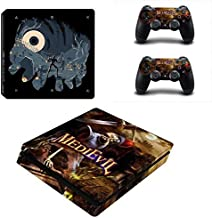 Playstation 4 Slim Skin Set – Video Game - HD Printing Vinyl Skin Cover Slimtective for PS4 Slim Console and 2 PS4 Controller by DIANAVN.