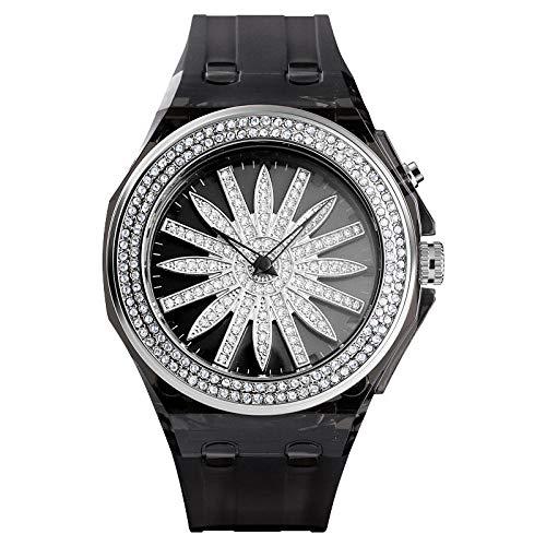 Armbanduhren Mode Led Laternen Führen Den Quarz Wasserdicht Geschenk Uhr Schwarz Silber Ring G