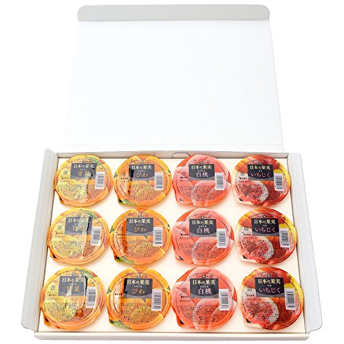 【九州旬食館】 日本の果実 フルーツ ゼリー 4種 (各3個) 12個入り(甘夏 いちじく 白桃 びわ) 詰め合わせ ギフト セット 父の日 父の日ギフト お中元