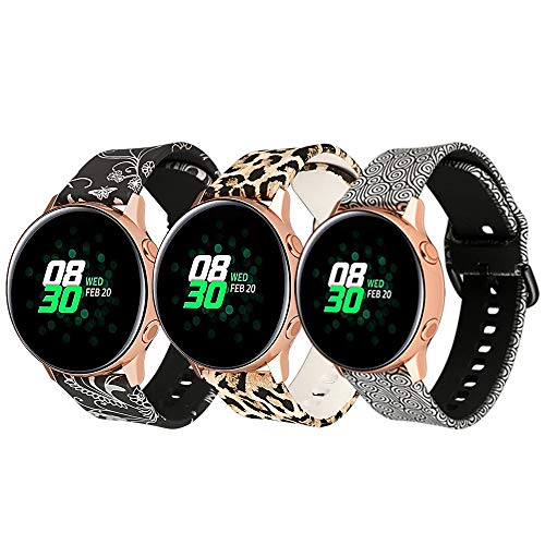 20MM Watch Bands for Samsung Galaxy Watch 42mm/Samsung Galaxy Watch Active 40mm/Samsung Gear Sport/Garmin VivoActive 3/VivoActive 3 Music/Amazfit Bip/Forerunner 645 Music Smart Watch 3pcs