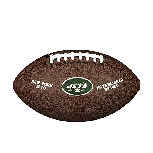 Wilson Unisex-Adult NFL LICENSED BALL NJ American Football, BROWN, Uni