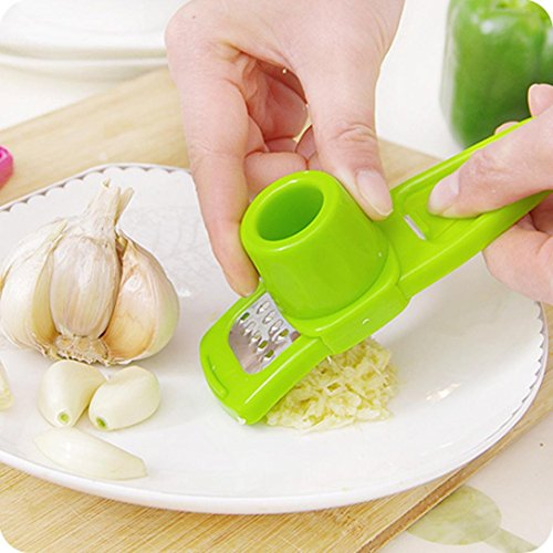 SUJING Garlic Vegetable Cutter Food Chopper Garlic Slicer Slicer Dicer Shredders Cooking Tools (Green)