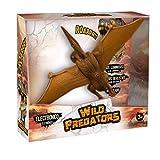 Wild predators Pteranodón Mediano, Figuras Dinosaurios Juguetes 3 años o más, Regalos para Niños, Ojos Luminosos, Sonidos y Movimientos Reales (World Brands XT380912)
