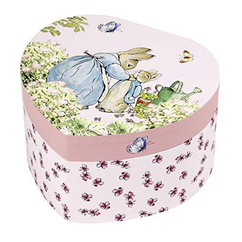 Trousselier - Peter Hase - Peter Rabbit - Musikschmuckdose - Spieluhr - Ideales Geschenk für junge Mädchen - Musik Romeo & Julia - Farbe rosa