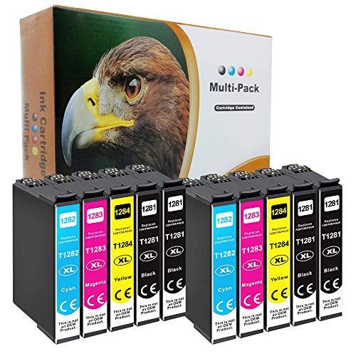 D&C - Juego de 10 cartuchos de tinta compatibles con Epson Stylus Office BX305f BX305fd BX305fw S22 SX125 SX130 SX230 SX235w SX420W SX425W SX430W SX435w SX438W SX440W SX445W