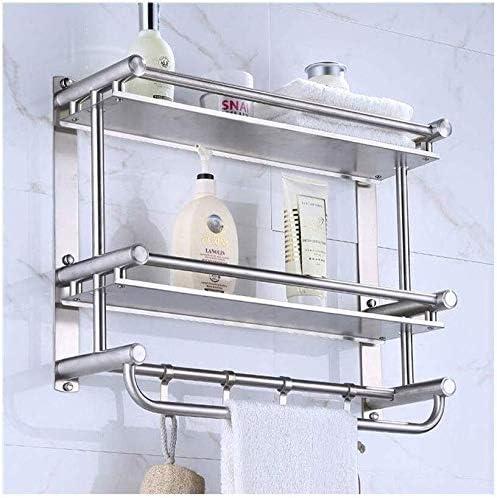 GYJWXM Trash Can Bathroom Shelf Special sale item Wall Max 83% OFF Tem 2 Tier Aluminum Mounted