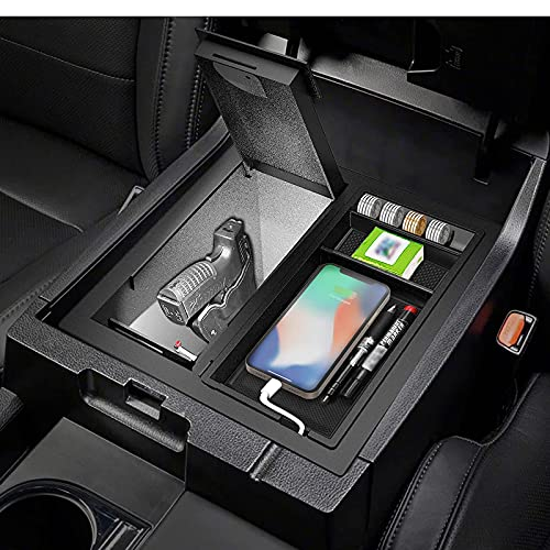3mirrors Tundra Console Safe, Center Console Gun Safe with Dual LED...