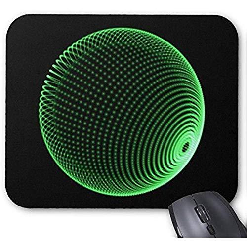 Gestippelde Holo bol -groen- muismat 30 * 25 * 0,3 cm muismat Mode ontworpen muismat Office en familie Desktop Pad