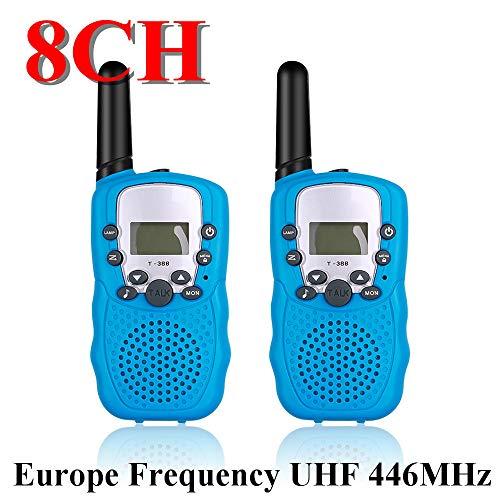 APQMR Walkie Talkie 10 Km 8Ch 22Ch 2Pcs Mini Walkie Talkie Kinderradiosender Tragbares Radio Kommunikator Geschenk Für Kind-Blau 8Ch