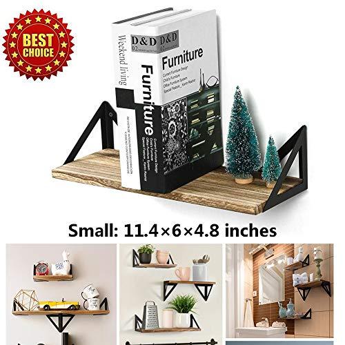 M-TOP lange drijvende planken, opknoping muur plank, muur gemonteerd natuurlijke rustieke massief hout opslag planken, opknoping muur planken Set van 3 Decoratie voor Trophy Display fotolijsten
