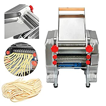 ZXMOTO Pasta Maker 110V Electric Pasta Press Maker Machine Commercial Stainless Steel Noodle Maker Pasta Roller Maker Machine for Noodle Dumpling Skin Pasta Width 3mm/9mm