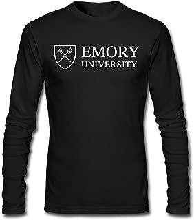 Men Emory University Logo Long Sleeve T-Shirt Black