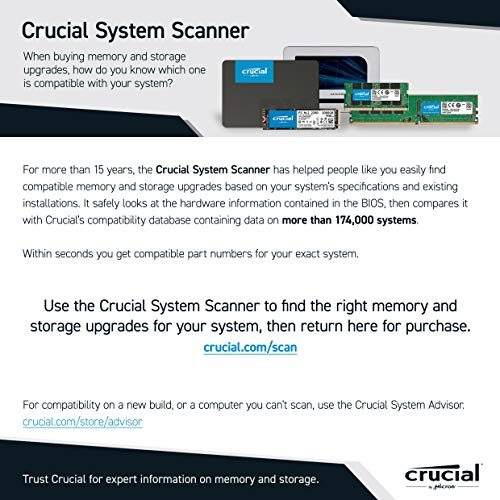 Crucial RAM 32GB Kit (2x16GB) DDR4 3200 MHz CL22 Laptop Memory CT2K16G4SFRA32A Louisiana