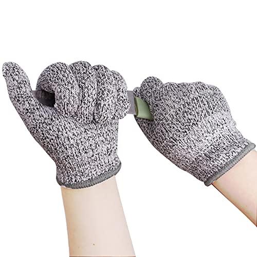 Quazilli 2 Pairs Cut Resistant Gloves Children's Cut Protection Gloves Chainsaw Protection Gloves Cut Protection Cut Resistant Gloves Kitchen Work Gloves Children