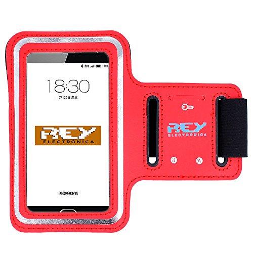 Brazalete Deportivo Reflectante S para Smartphones Desde 3,5' hasta 4', en Color Rojo