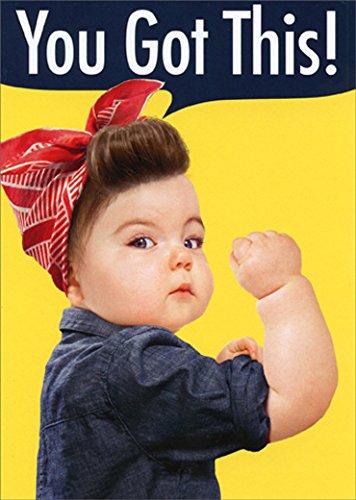 Baby Girl Bicep Avanti Funny/Humorous Encouragement Card