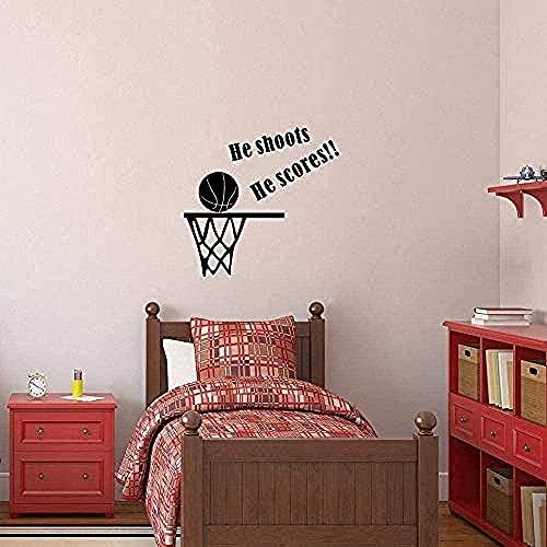 Etiqueta De La Pared Pvc Etiqueta De La Pared Impermeable Enamórate Del Baloncesto Amor Juego Niño Dormitorio Diversión Arcade Decoración Etiqueta 63 Cm X 66 Cm