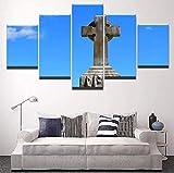 5 piezas de lienzo Cuadro compuesto por 5 lienzos impresos en HD, utilizados para decoración del...