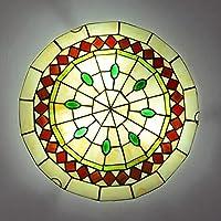 LEDシーリングライト6畳8畳簡単取付天井照明口金E26 天井照明 カフェ ダイニング 廊下 食卓 居間用 キッチンティファニーライト,12,40cm