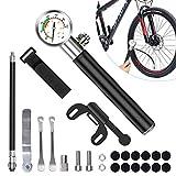Tendak Fahrradpumpe,Mini Fahrradpumpe,210 PSI Luftpumpe mit Manometer,Reparatur von...